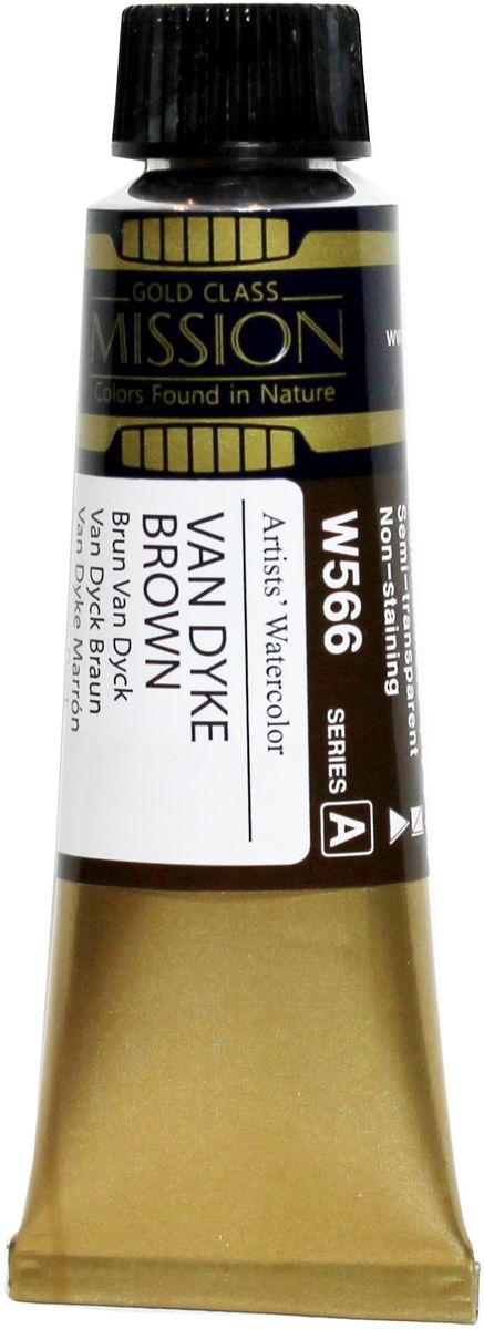Mijello Акварель Mission Gold цвет W566 Ван Дайк коричневый 15 мл MWC-W566MWC-W566Серия акварельных красок Корейского производителя Mijello - Mission Gold состоит из 105 цветов. Эта серия акварели была создана компанией Mijello в сотрудничестве с экспертами в области акварельной живописи. Цвета акварели серии Mission Gold это смеси высококачественных пигментов тонкого помола с высококачественными компонентами и гуммиарабиком. Эти краски предлагаются в традиционной для Корейских производителей тубах по 15 мл. Используйте краски Mijello серии Mission Gold для акварельной живописи по мокрому, они идеально подойдут для подобной техники работы с акварелью. Акварель Mijello Mission Gold будет отличным выбором как начинающему художнику, так и профессионалу.