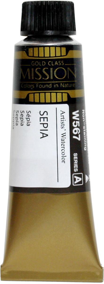 Mijello Акварель Mission Gold цвет W567 Сепия 15 мл MWC-W567MWC-W567Серия акварельных красок Корейского производителя Mijello - Mission Gold состоит из 105 цветов. Эта серия акварели была создана компанией Mijello в сотрудничестве с экспертами в области акварельной живописи. Цвета акварели серии Mission Gold это смеси высококачественных пигментов тонкого помола с высококачественными компонентами и гуммиарабиком. Эти краски предлагаются в традиционной для Корейских производителей тубах по 15 мл. Используйте краски Mijello серии Mission Gold для акварельной живописи по мокрому, они идеально подойдут для подобной техники работы с акварелью. Акварель Mijello Mission Gold будет отличным выбором как начинающему художнику, так и профессионалу.