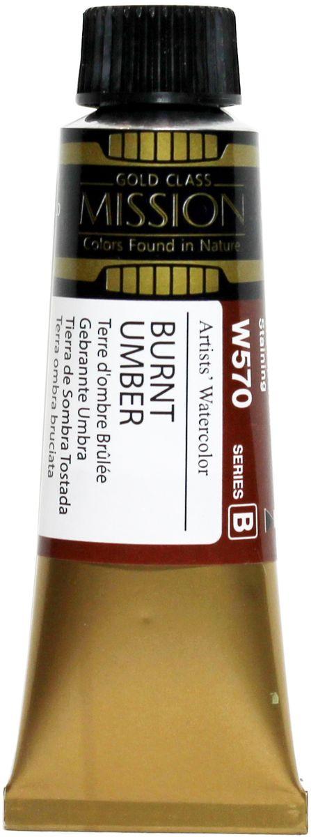 Mijello Акварель Mission Gold W570 Умбра жженая 15 мл MWC-W570MWC-W570Серия акварельных красок Корейского производителя Mijello - Mission Gold состоит из 105 цветов. Эта серия акварели была создана компанией Mijello в сотрудничестве с экспертами в области акварельной живописи. Цвета акварели серии Mission Gold это смеси высококачественных пигментов тонкого помола с высококачественными компонентами и гуммиарабиком. Эти краски предлагаются в традиционной для Корейских производителей тубах по 15мл. Используйте краски Mijello серии Mission Gold для акварельной живописи по мокрому, они идеально подойдут для подобной техники работы с акварелью. Акварель Mijello Mission Gold будет отличным выбором как начинающему художнику, так и профессионалу.