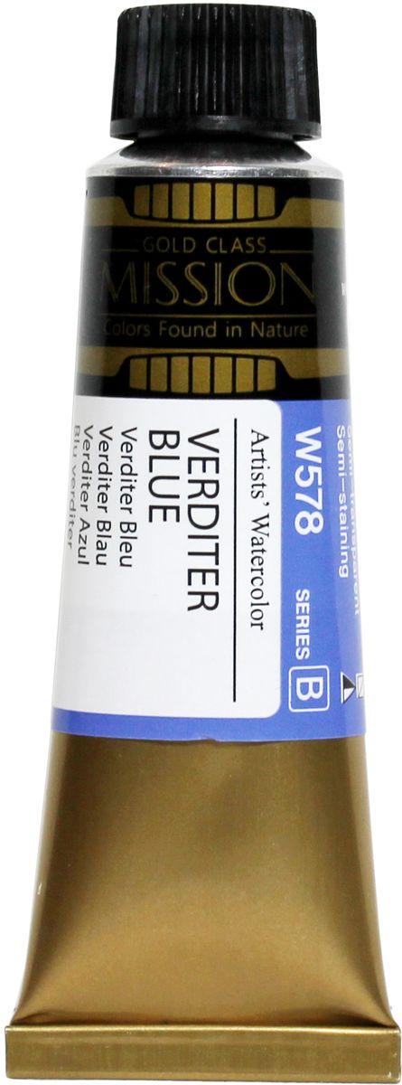 Mijello Акварель Mission Gold W578 Синий Verditer 15 мл MWC-W578MWC-W578Серия акварельных красок Корейского производителя Mijello - Mission Gold состоит из 105 цветов. Эта серия акварели была создана компанией Mijello в сотрудничестве с экспертами в области акварельной живописи. Цвета акварели серии Mission Gold это смеси высококачественных пигментов тонкого помола с высококачественными компонентами и гуммиарабиком. Эти краски предлагаются в традиционной для Корейских производителей тубах по 15 мл. Используйте краски Mijello серии Mission Gold для акварельной живописи по мокрому, они идеально подойдут для подобной техники работы с акварелью. Акварель Mijello Mission Gold будет отличным выбором как начинающему художнику, так и профессионалу.