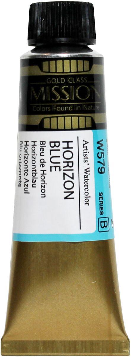 Mijello Акварель Mission Gold цвет W579 Синий горизонт 15 мл MWC-W579MWC-W579Серия акварельных красок Корейского производителя Mijello - Mission Gold состоит из 105 цветов. Эта серия акварели была создана компанией Mijello в сотрудничестве с экспертами в области акварельной живописи. Цвета акварели серии Mission Gold это смеси высококачественных пигментов тонкого помола с высококачественными компонентами и гуммиарабиком. Эти краски предлагаются в традиционной для Корейских производителей тубах по 15 мл. Используйте краски Mijello серии Mission Gold для акварельной живописи по мокрому, они идеально подойдут для подобной техники работы с акварелью. Акварель Mijello Mission Gold будет отличным выбором как начинающему художнику, так и профессионалу.