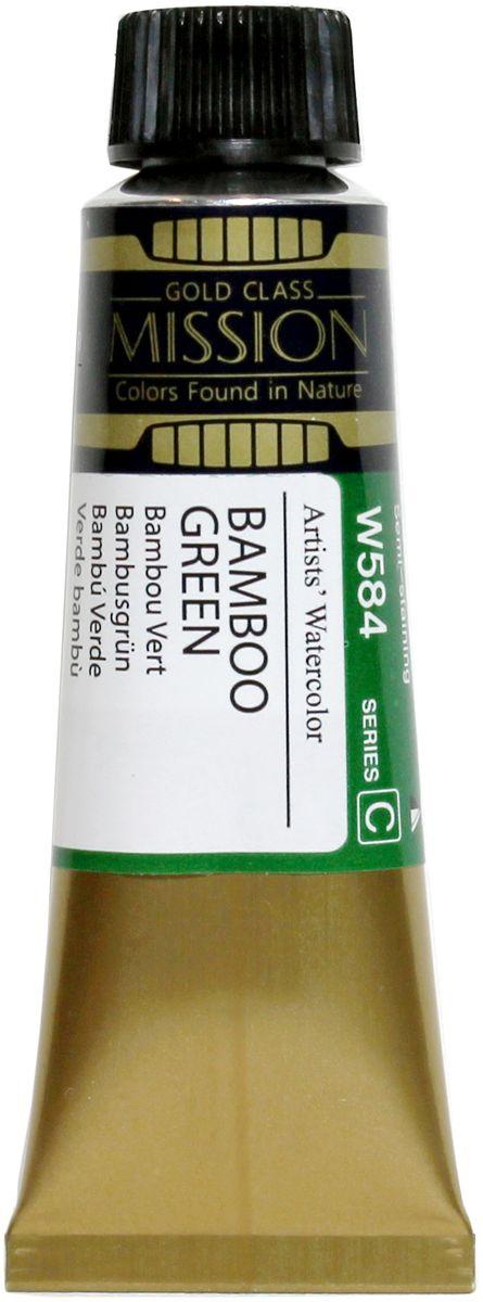Mijello Акварель Mission Gold цвет W584 Зеленый бамбук 15 мл MWC-W584MWC-W584Серия акварельных красок Корейского производителя Mijello - Mission Gold состоит из 105 цветов. Эта серия акварели была создана компанией Mijello в сотрудничестве с экспертами в области акварельной живописи. Цвета акварели серии Mission Gold это смеси высококачественных пигментов тонкого помола с высококачественными компонентами и гуммиарабиком. Эти краски предлагаются в традиционной для Корейских производителей тубах по 15мл. Используйте краски Mijello серии Mission Gold для акварельной живописи по мокрому, они идеально подойдут для подобной техники работы с акварелью. Акварель Mijello Mission Gold будет отличным выбором как начинающему художнику, так и профессионалу.
