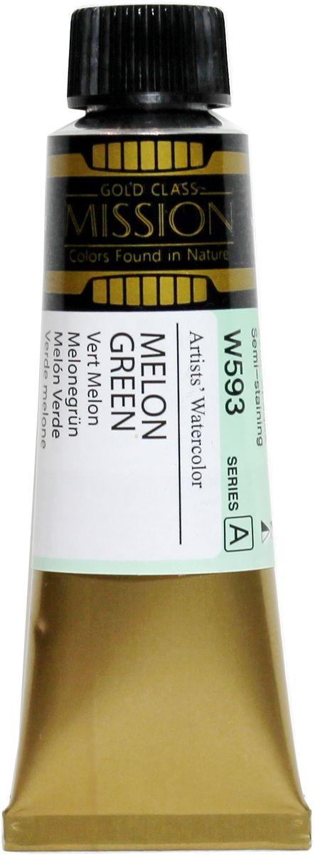 Mijello Акварель Mission Gold W593 Зеленая дыня 15 мл MWC-W593MWC-W593Серия акварельных красок Корейского производителя Mijello - Mission Gold состоит из 105 цветов. Эта серия акварели была создана компанией Mijello в сотрудничестве с экспертами в области акварельной живописи. Цвета акварели серии Mission Gold это смеси высококачественных пигментов тонкого помола с высококачественными компонентами и гуммиарабиком. Эти краски предлагаются в традиционной для Корейских производителей тубах по 15мл. Используйте краски Mijello серии Mission Gold для акварельной живописи по мокрому, они идеально подойдут для подобной техники работы с акварелью. Акварель Mijello Mission Gold будет отличным выбором как начинающему художнику, так и профессионалу.