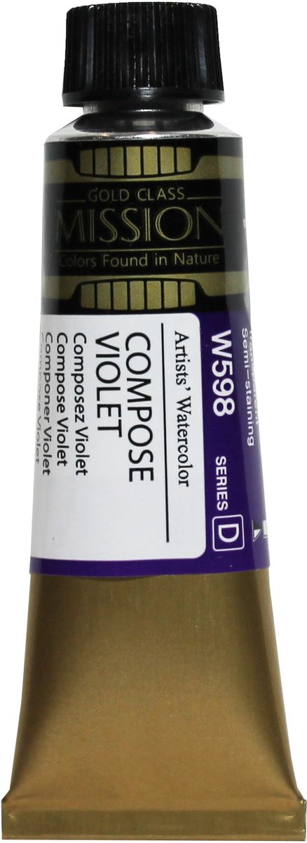 Mijello Акварель Mission Gold W598 Фиолетовый состовной 15 мл MWC-W598 -  Краски