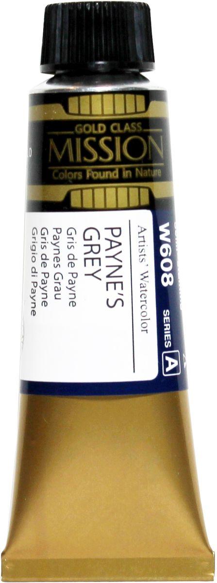 Mijello Акварель Mission Gold цвет W608 серая пейна 15 мл MWC-W608MWC-W608Серия акварельных красок Корейского производителя Mijello - Mission Gold состоит из 105 цветов. Эта серия акварели была создана компанией Mijello в сотрудничестве с экспертами в области акварельной живописи. Цвета акварели серии Mission Gold это смеси высококачественных пигментов тонкого помола с высококачественными компонентами и гуммиарабиком. Эти краски предлагаются в традиционной для Корейских производителей тубах по 15мл. Используйте краски Mijello серии Mission Gold для акварельной живописи по мокрому, они идеально подойдут для подобной техники работы с акварелью. Акварель Mijello Mission Gold будет отличным выбором как начинающему художнику, так и профессионалу.