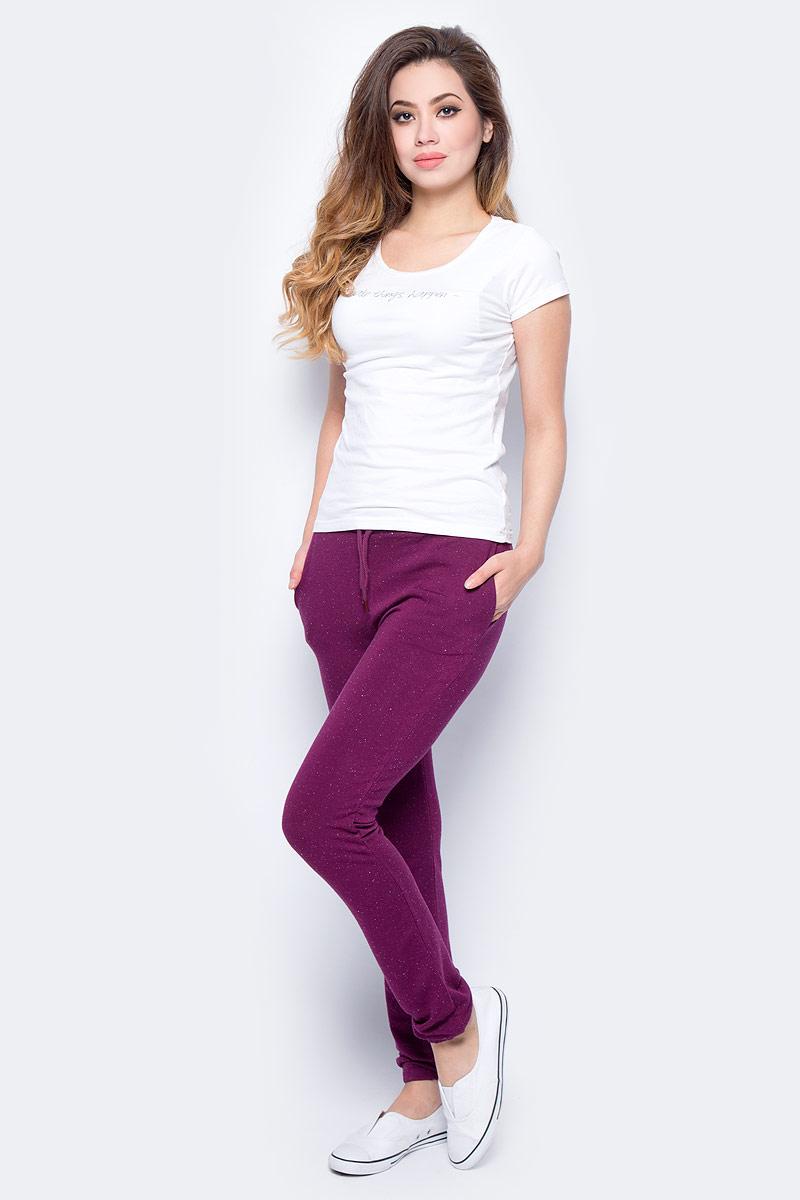 Брюки спортивные женские Sela, цвет: фуксия. Pk-115/855-7351. Размер M (46)Pk-115/855-7351Женские спортивные брюки от Sela выполнены из высококачественного материала. Спереди брюки дополнены двумя врезными карманами.
