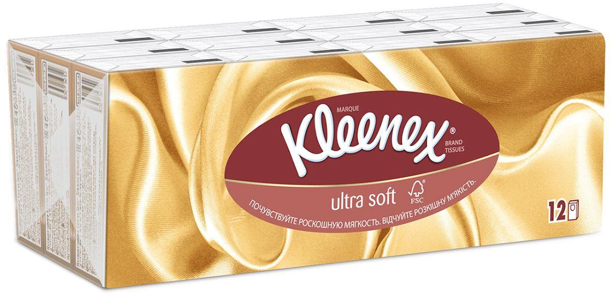 Kleenex Платочки носовые Ультрасофт мини 7 х 12 шт260835241Яркая и привлекательная упаковка говорит о высоком качестве продукта, передает непревзойденную мягкость. Клинекс Ультрасофт – изысканные и премиальные салфетки.