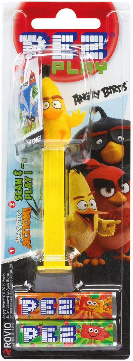 PEZ Игрушка с конфетами 1+2 Angry Birds, 17 г (в ассортименте)21332-97Легендарные игрушки PEZ - предмет коллекционирования во всем мире с 1940 года. Это продукт с уникальной комбинацией игрушки и фруктовых конфет, служащих для их наполнения! Все герои PEZ - это персонажи самых популярных современных мультфильмов и блокбастеров. Собери свою коллекцию ПЕЦ! Ешь, играй, коллекционируй - 3 радости в одном PEZ! PEZ игрушка в классическом формате - игрушка дозатор и 2 конфеты. Отличный и оригинальный подарок на все времена.Уважаемые клиенты! Обращаем ваше внимание на то, что упаковка может иметь несколько видов дизайна. Поставка осуществляется в зависимости от наличия на складе.