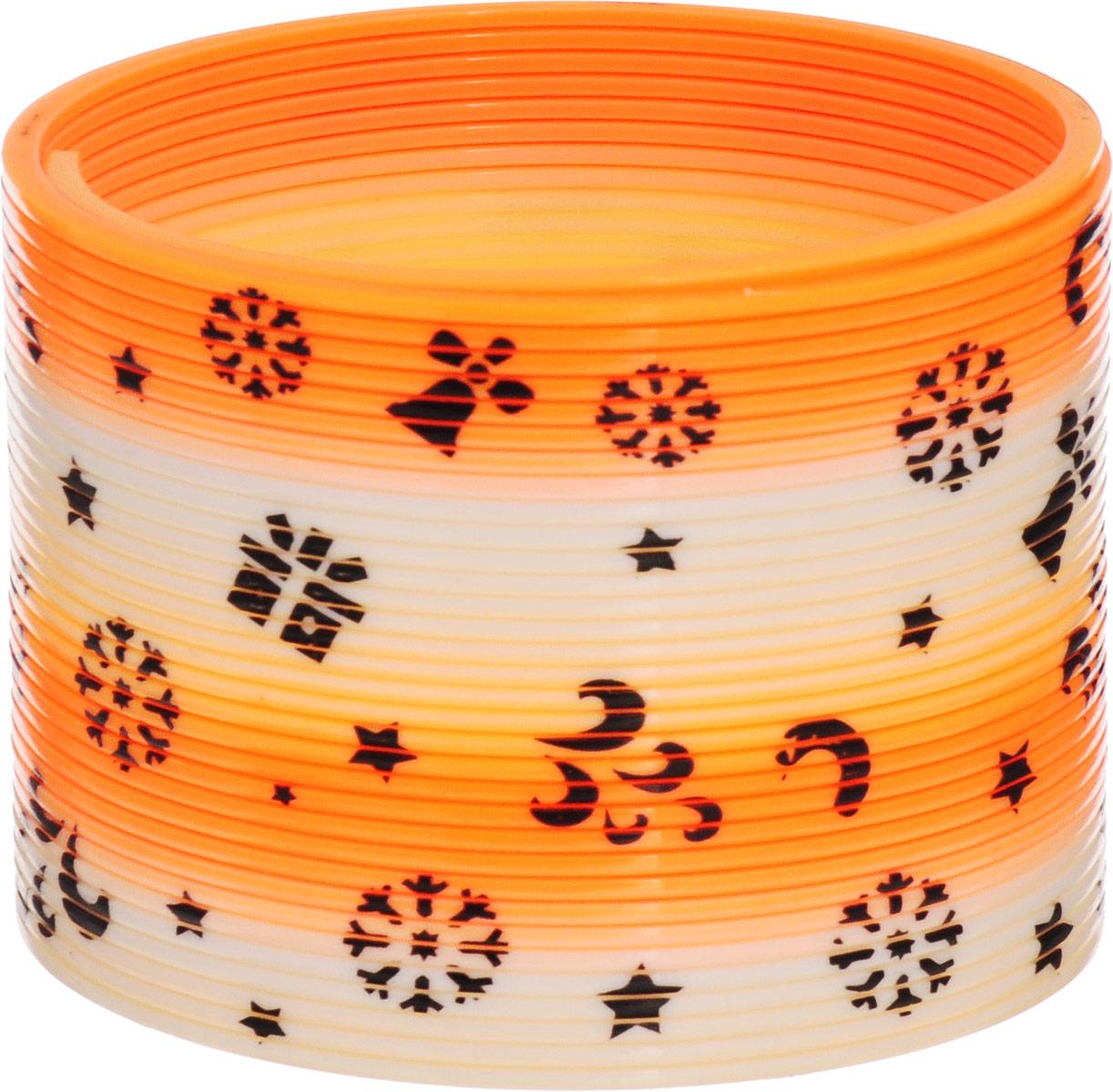 Sima-land Антистрессовая игрушка Пружинка-радуга Узоры цвет оранжевый sima land антистрессовая игрушка пружинка радуга мышка