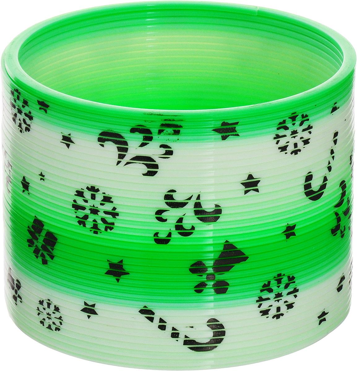 Sima-land Антистрессовая игрушка Пружинка-радуга Узоры цвет зеленый