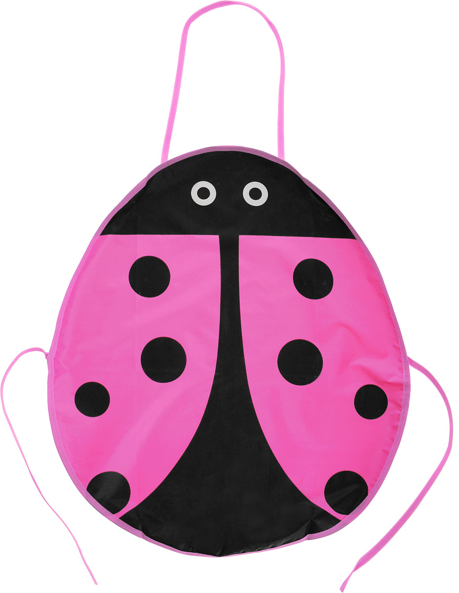 Школа талантов Фартук детский Божья коровка цвет розовый460178_розовыйШкола талантов Фартук детский Божья коровка цвет розовый
