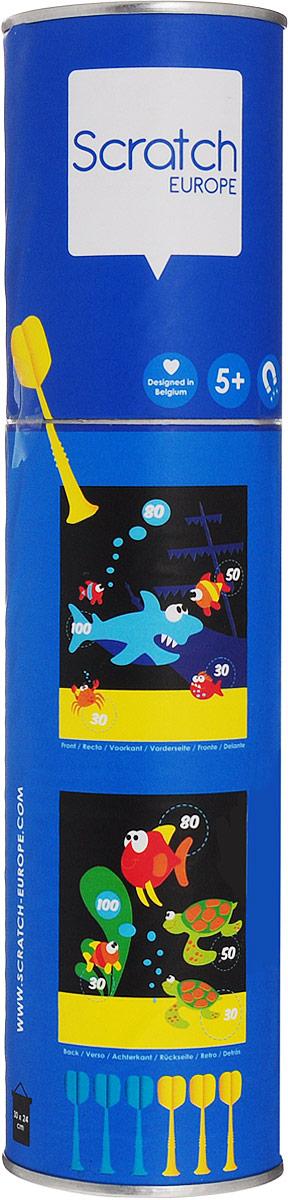 Scratch Обучающая игра Darts Морская жизнь мишень для игры в дартс dg51003