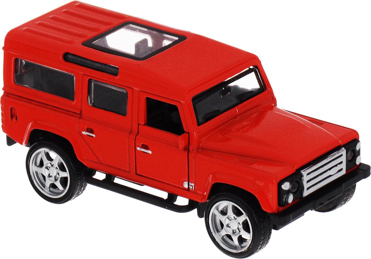ТехноПарк Машинка инерционная Джип цвет красный технопарк машинка инерционная lamborghini gallardo цвет фиолетовый