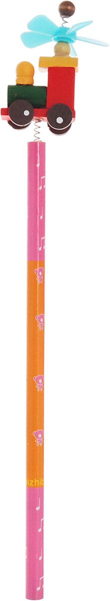 Карамба Карандаш простой Паровозик цвет корпуса розовый оранжевый4620770208237_розовый, оранжевыйЭтот забавный чернографитный карандаш легко найдет себе место на вашем столе. Деревянный корпус окрашен в розово-оранжевые цвета с орнаментом и декорирован фигуркой в виде паровозика, крепящегося при помощи пружины. На крыше паровоза расположен крутящийся пропеллер.Характеристики:Материал: дерево, пластик. Длина карандаша (без фигурки): 17,7 см. Размер фигурки: 3 см х 5 см.