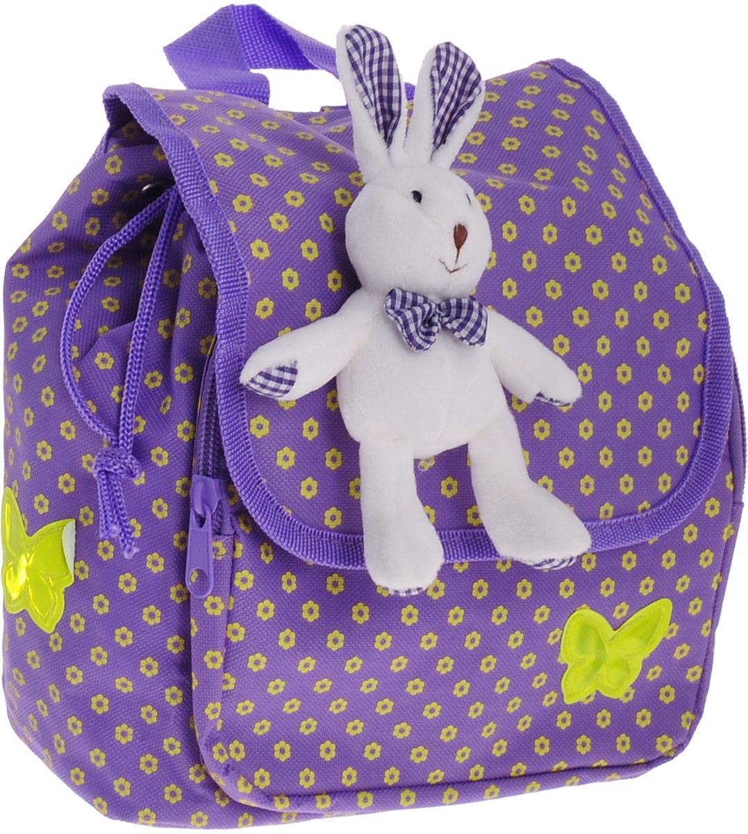 Феникс+ Рюкзак дошкольный Цветочки44307Дошкольный рюкзак Феникс+ Цветочки обязательно пригодится вашему ребенку! Он может взять его с собой на прогулку, в гости или в детский сад.Рюкзак выполнен из износоустойчивой ткани, что позволяет ему надежно служить долгое время. Изделие декорировано мягкой игрушкой в виде зайца.Изделие содержит одно отделение, затягивающееся шнурком с пластиковым фиксатором, а сверху дополнительно закрывается клапаном на липучках. На лицевой стороне расположен накладной карман на застежке-молнии.Рюкзак оснащен регулируемыми по длине плечевыми лямками и дополнен текстильной ручкой для переноски в руках. Светоотражающие элементы не оставят незамеченным вашего ребенка в темное время суток.