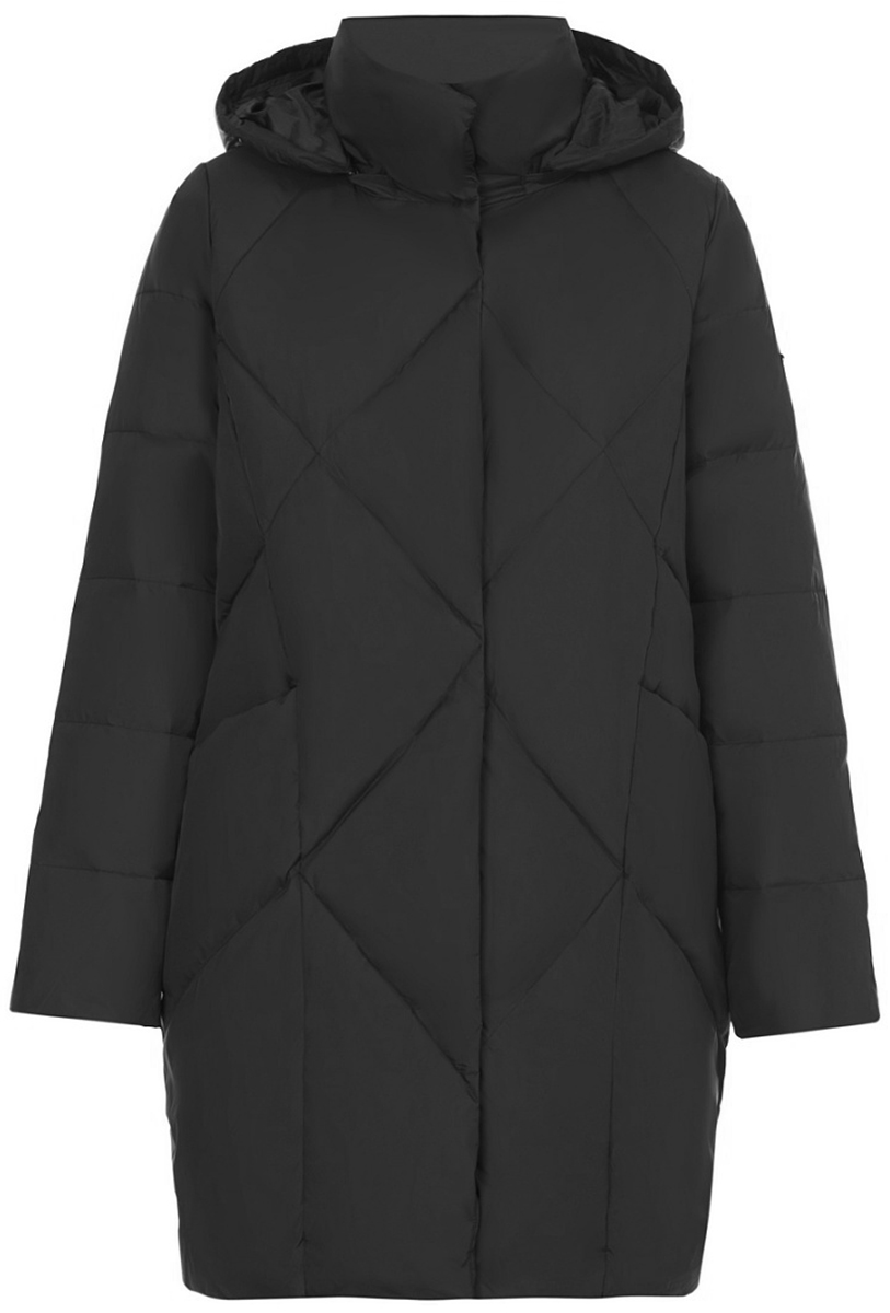 Пуховик женский Baon, цвет: черный. B007686_Black. Размер 56 (56)B007686_Black