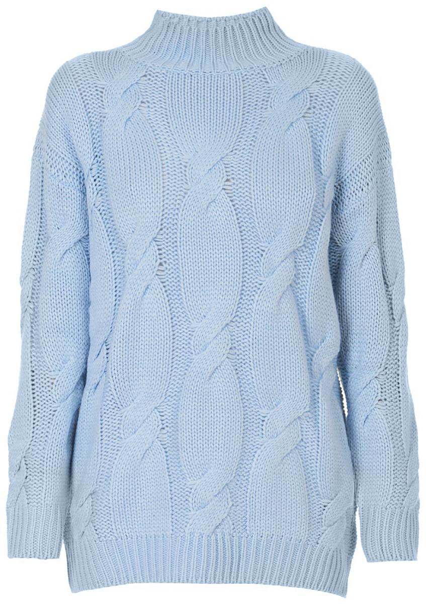 Свитер женский Baon, цвет: голубой. B137576_Tear Drop. Размер L (48) baon свитер с геометрическим узором арт baon b135558 белый