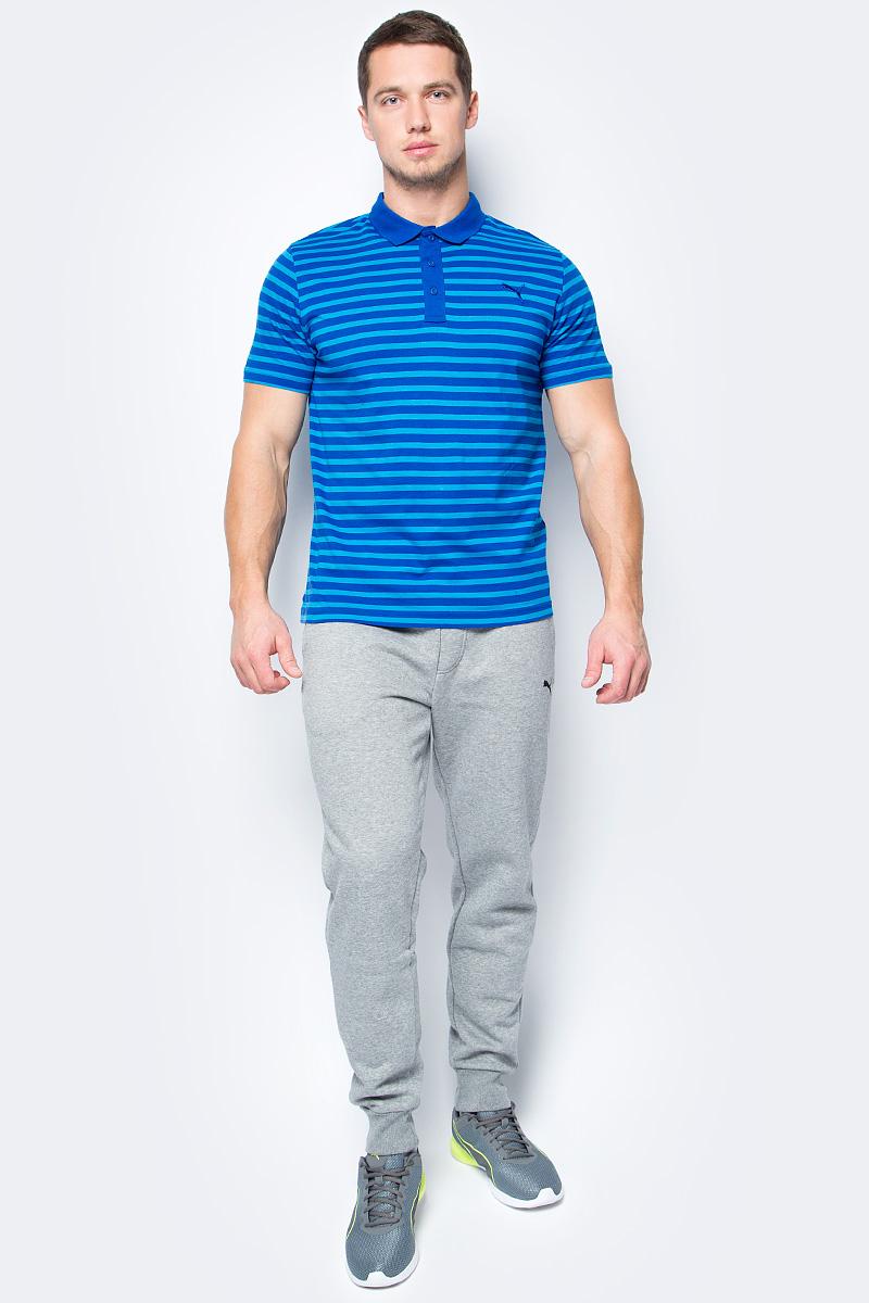 Поло мужское Puma ESS Striped Jersey Polo, цвет: голубой, синий. 83825031. Размер L (48/50)83825031Стильная мужская рубашка-поло ESS Striped Jersey Polo выполнена из 100% хлопка с финальной влагоотводящей обработкой на основе биотехнологий. Модель декорирована логотипом PUMA и принтом в полоску. Среди других отличительных особенностей изделия - отложной воротник из трикотажа в рубчик, отделка тесьмой с фирменной символикой с внутренней стороны ворота и пуговицы с фирменной символикой PUMA. Классический крой понравится ценителям простого и лаконичного стиля, а воротник добавит элегантности модели. Отличный вариант для повседневного образа.