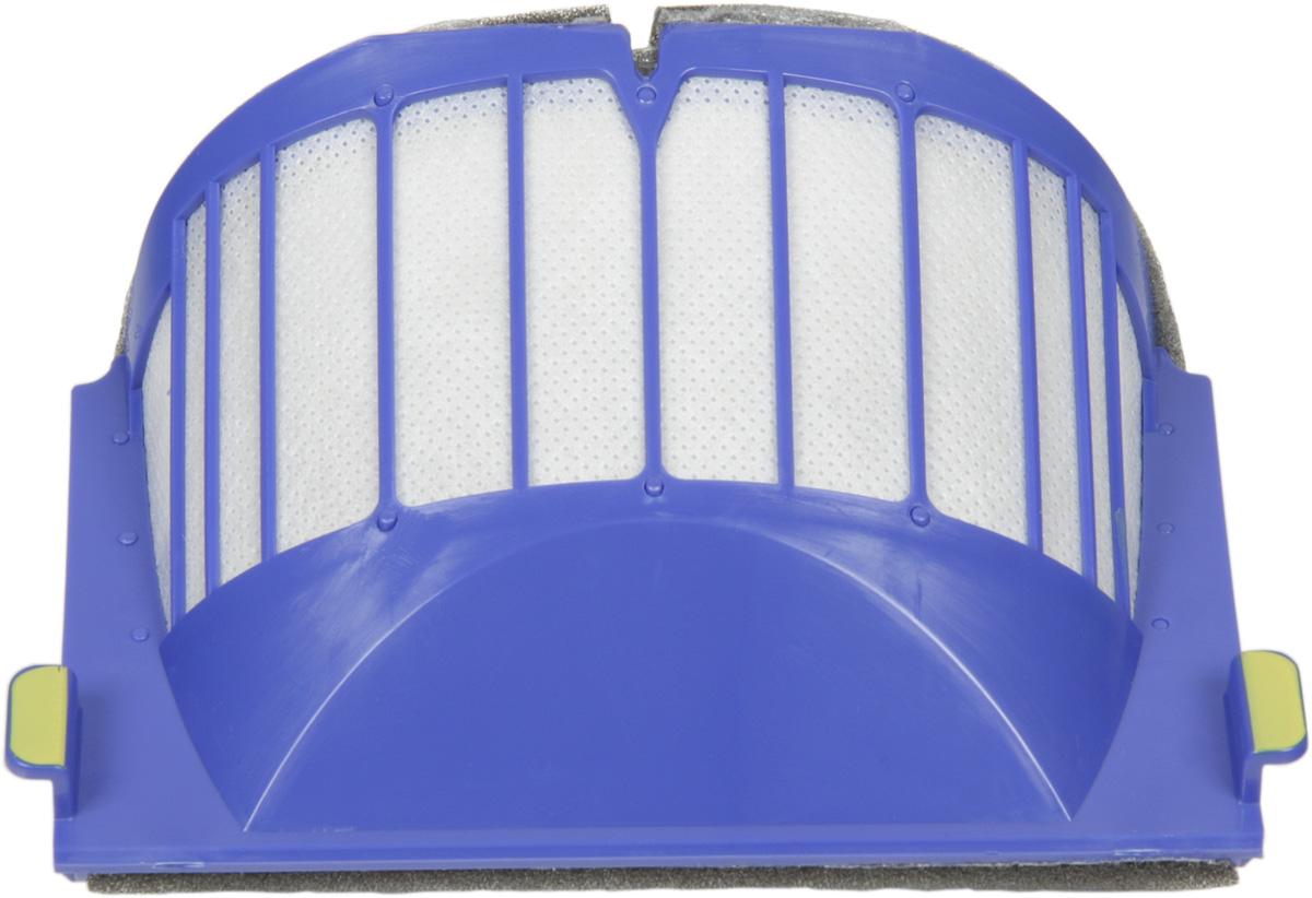 iRobot фильтр для пылесборника AeroVac,Purple00-00000019_фиолетовыйСменный фильтр iRobot служит для герметизации мусоросборника Roomba от выбросов пыли в атмосферу помещения. Подходит к Roomba 500-600 серии.Фильтры обеспечивают высокое качество уборки, уменьшая распространение пыли, аллергенов и других мельчайших частиц в воздухе, которым вы дышите. Для наилучшего результата, рекомендуем вам менять фильтры каждые 2-3 месяца.