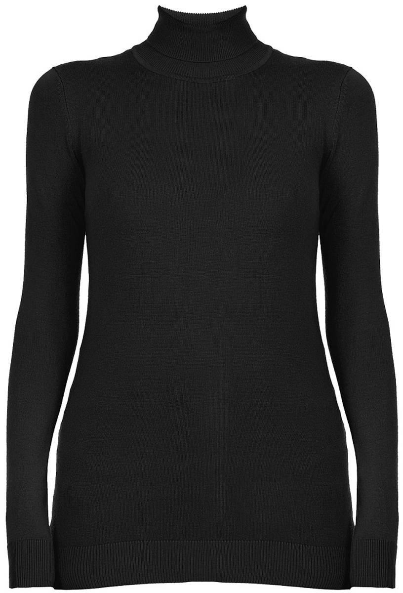 Водолазка женская Baon, цвет: черный. B227506_Black. Размер XL (50)B227506_BlackЖенская водолазка от Baon выполнена из вискозы с добавлением полиамида. Модель с длинными рукавами воротником-гольф.