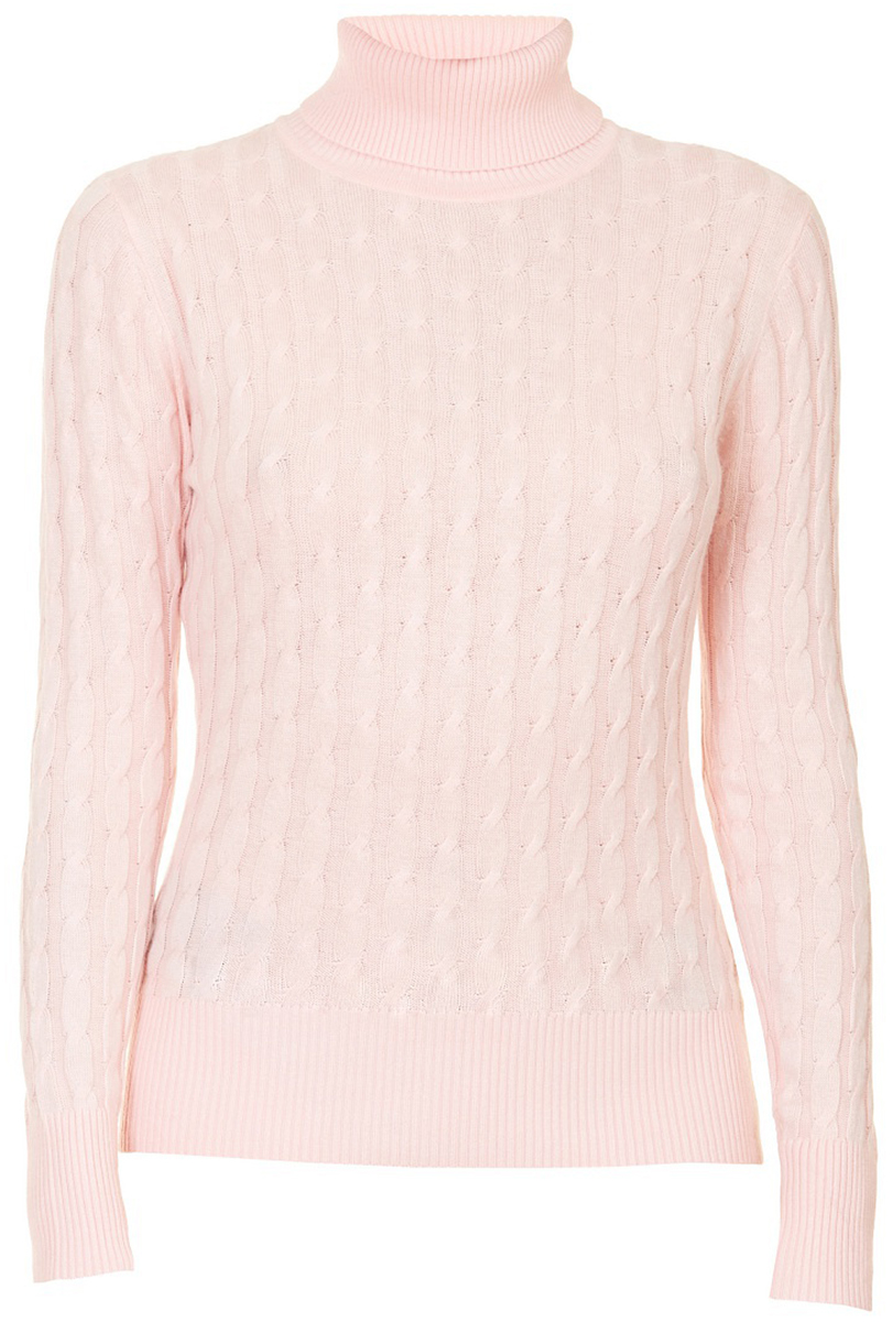 Водолазка женская Baon, цвет: розовый. B227703_Quartz. Размер 3XL (54)B227703_Quartz