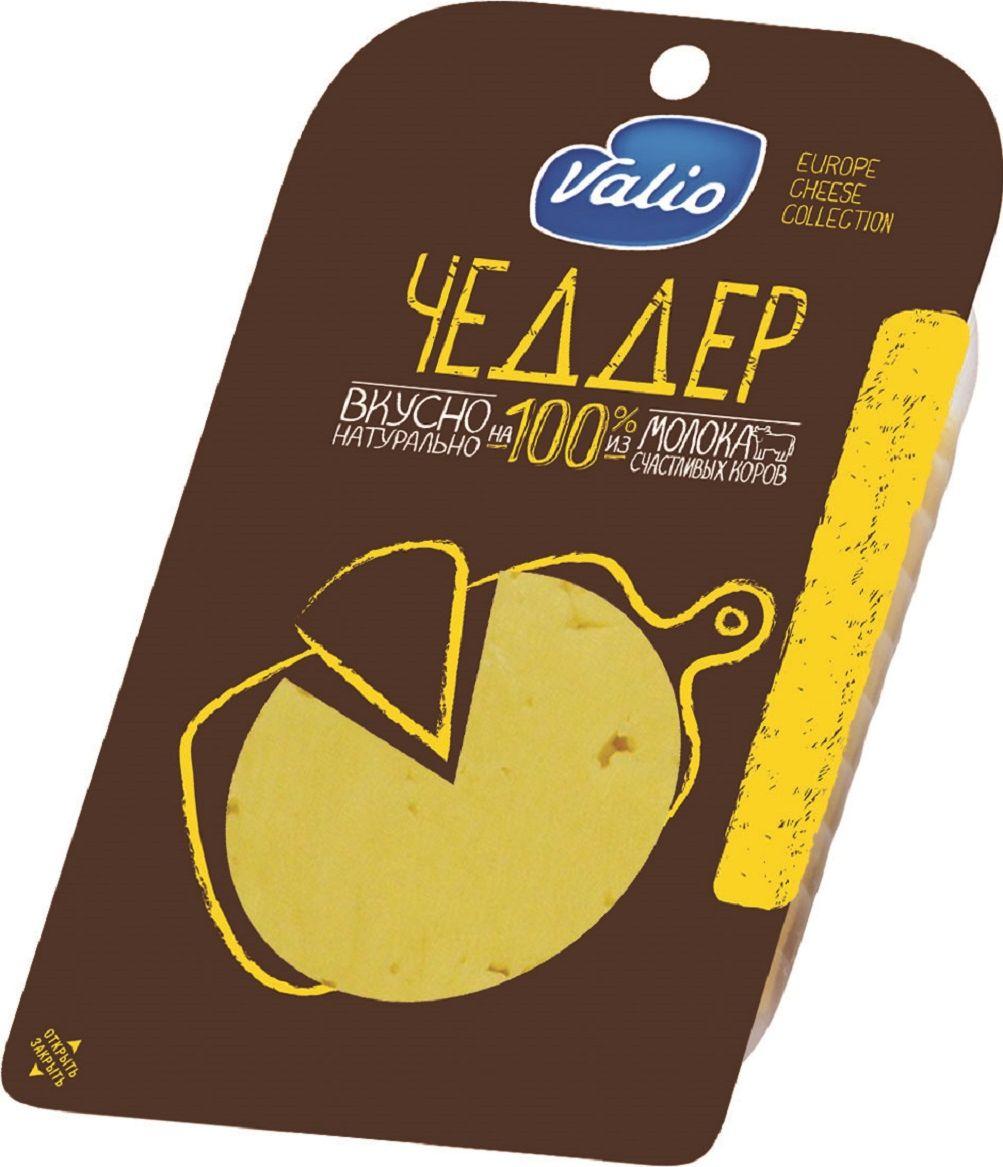 Valio Сыр Чеддер, 48%, 140 г904026Сырная коллекция Valio – это полутвердые сыры в нарезке, богатые полезными компонентами, содержащимися в натуральном молоке – кальцием и протеином.Без растительных жиров.
