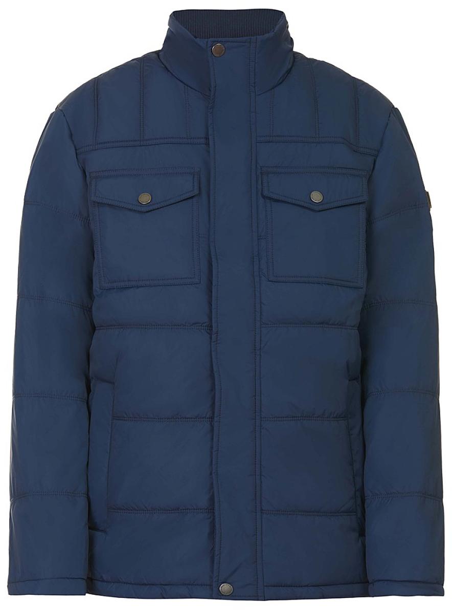 Куртка мужская Baon, цвет: синий. B537519_Soft Saphire. Размер XXL (54) водолазка мужская baon цвет синий b727502 baltic blue melange размер xxl 54