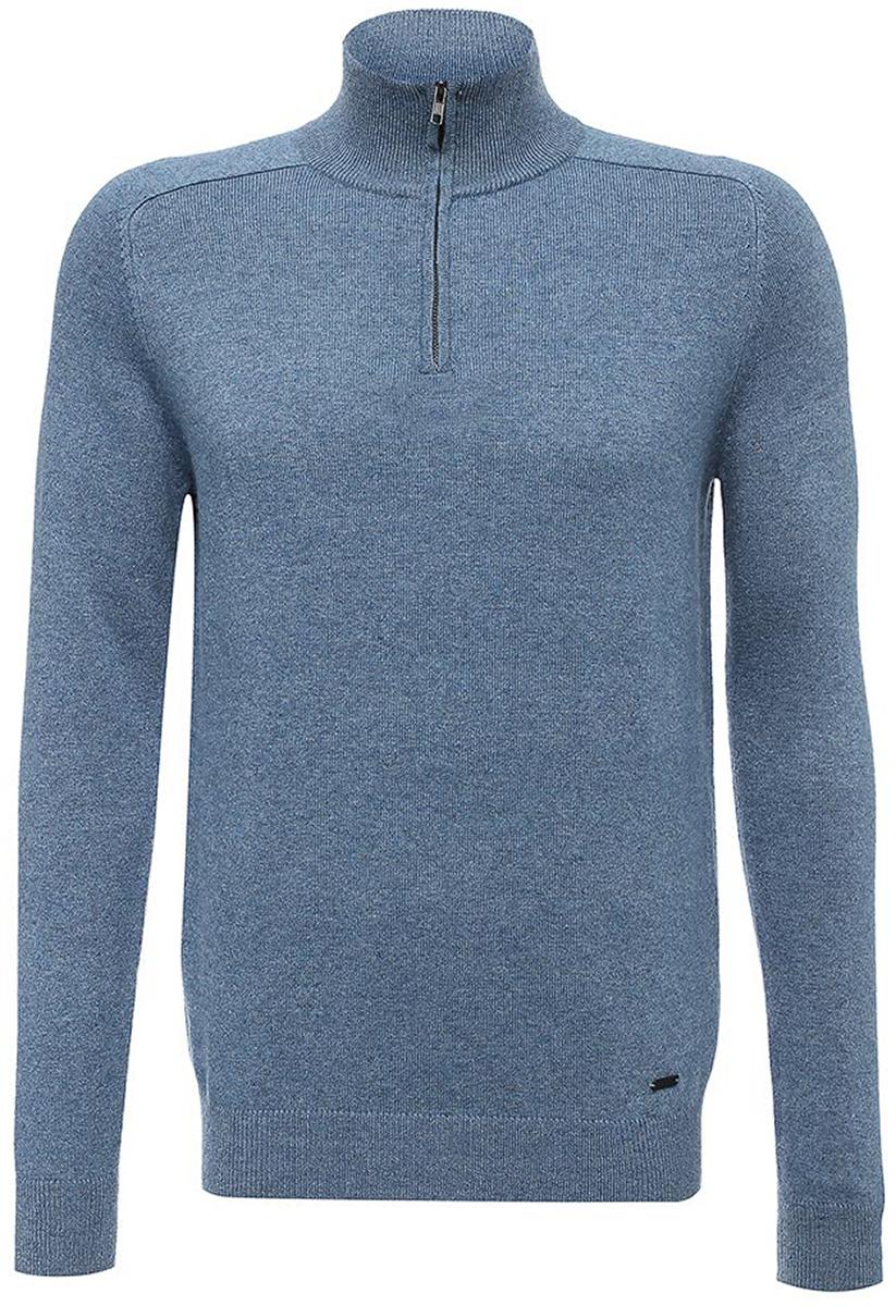 Свитер мужской Baon, цвет: синий. B637509_Steel Blue Melange. Размер XL (52) водолазка мужская baon цвет синий b727502 baltic blue melange размер xxl 54