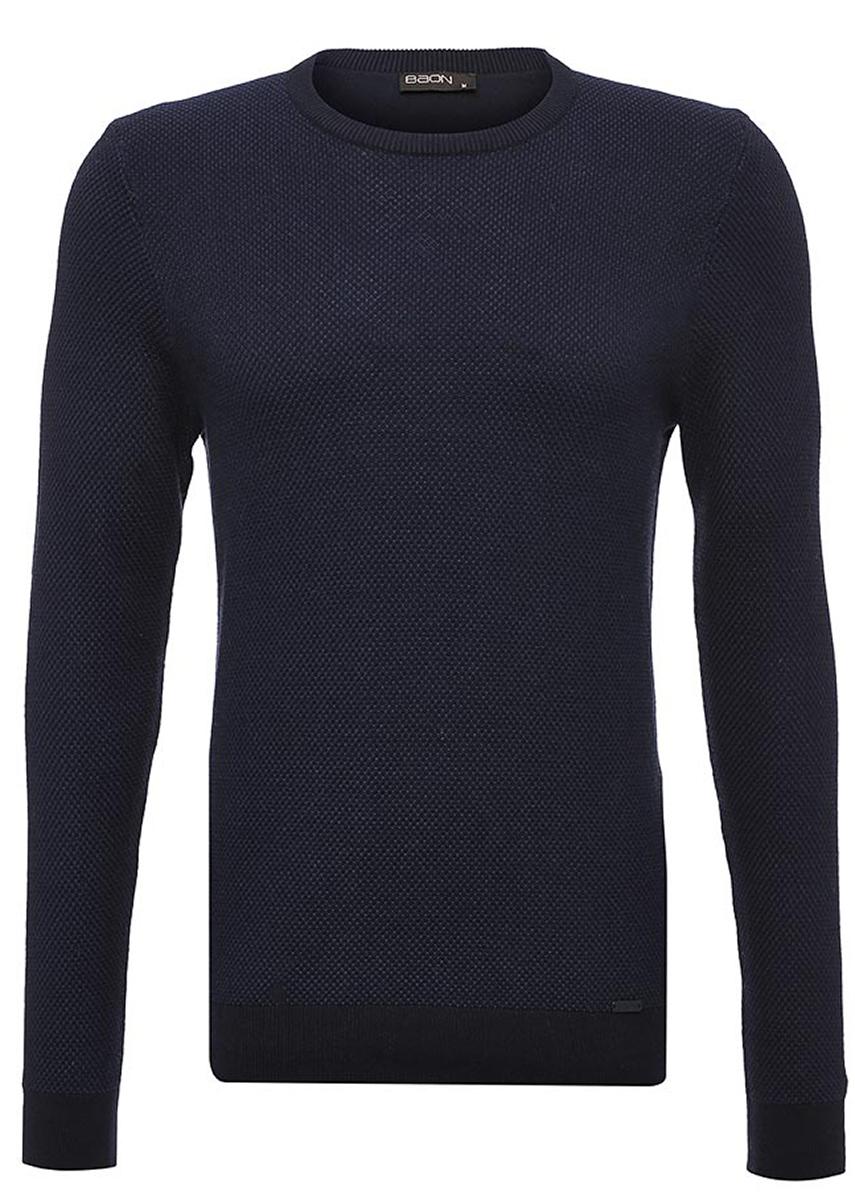 Джемпер мужской Baon, цвет: синий. B637523_Deep Navy Melange. Размер XL (52) водолазка мужская baon цвет синий b727502 baltic blue melange размер xxl 54