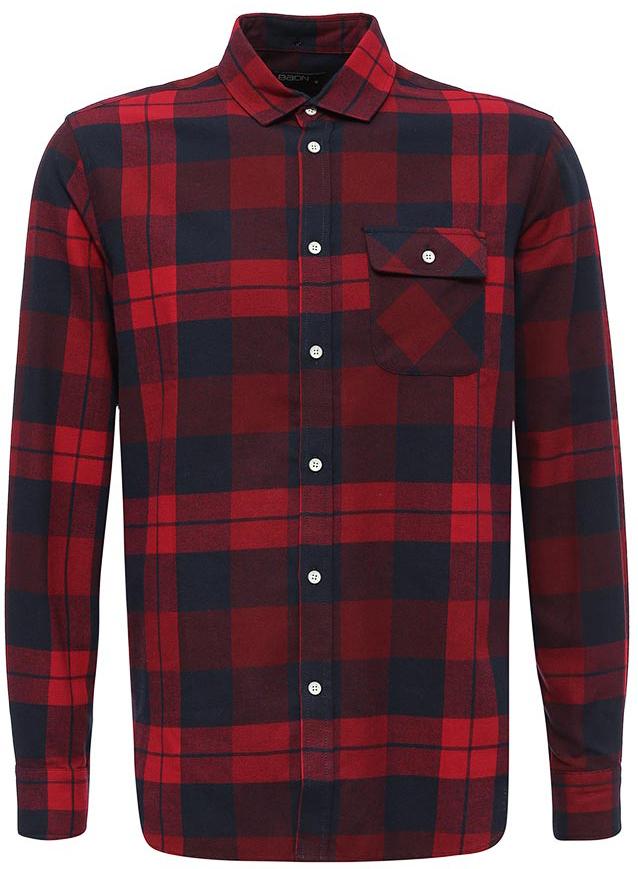 Рубашка мужская Baon, цвет: красный. B667516_Rubin Checked. Размер XXL (54) рубашка мужская levi s® цвет синий красный белый 6581602170 размер xxl 54