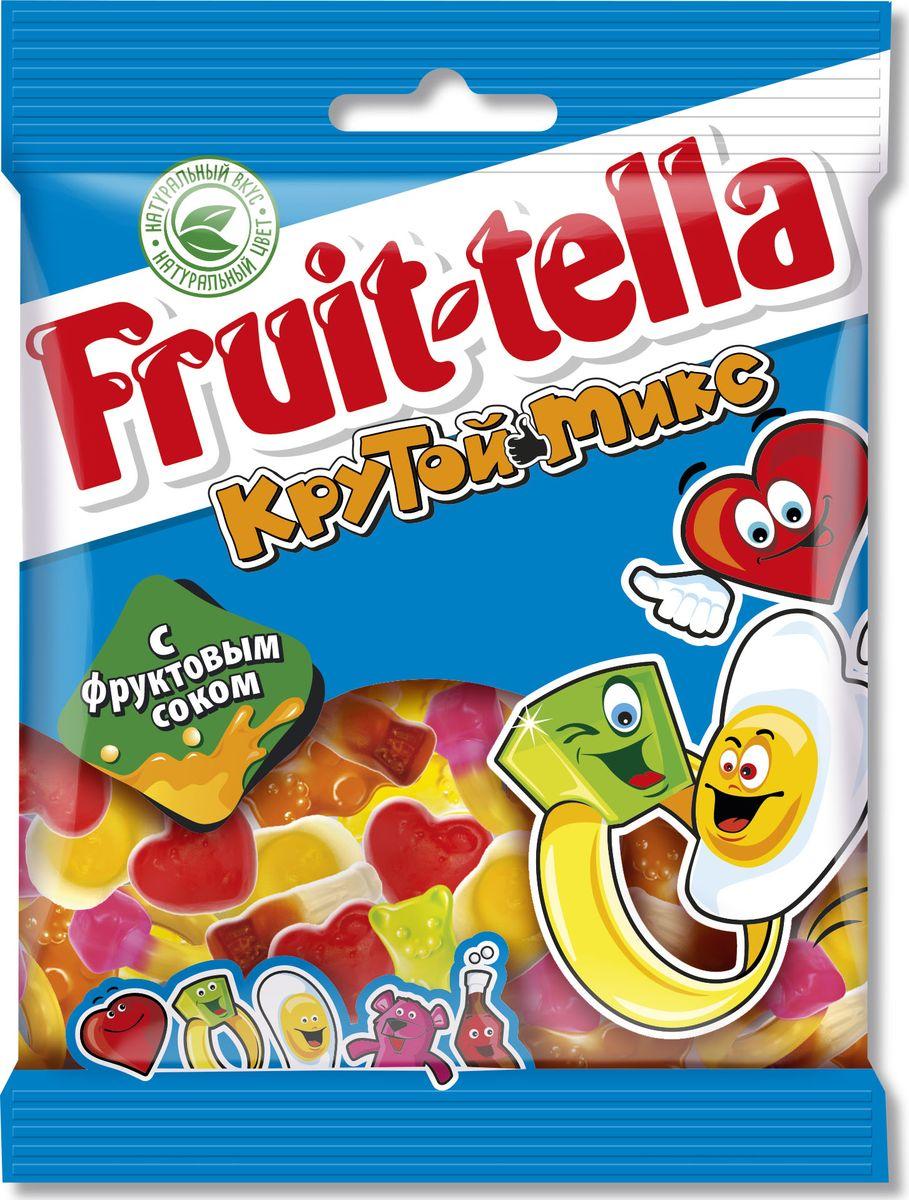 Fruit-tella Крутой микс жевательный мармелад, 70 г8253334Сочные жевательные конфеты и мармелад Fruit-tella дарят детям и взрослым всю радугу цветов и вкусов: от апельсина и яблока до черной смородины и клубники!