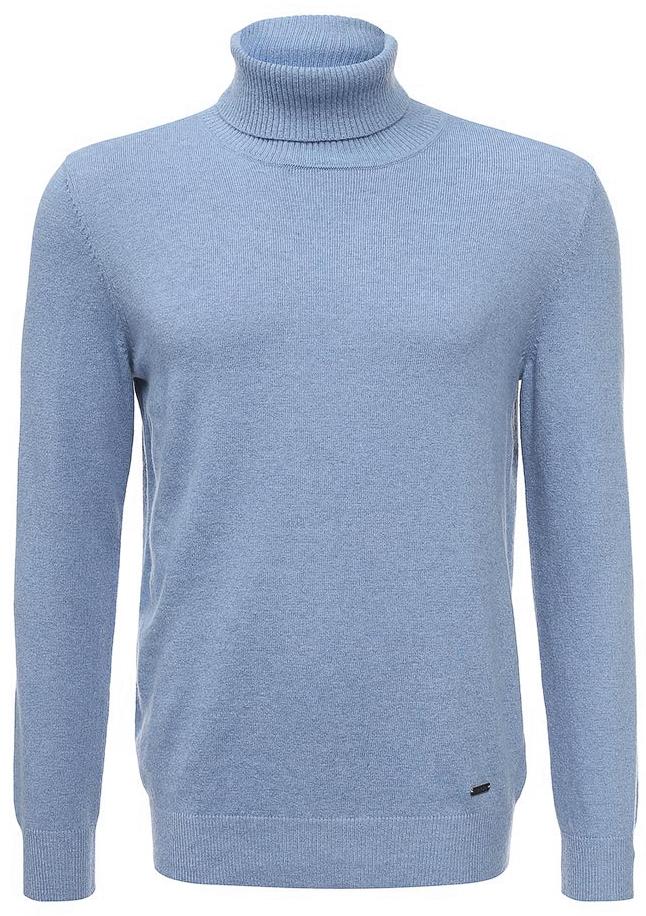 Водолазка мужская Baon, цвет: голубой. B727502_Dark Skyward Melange. Размер XXL (54) водолазка мужская baon цвет синий b727502 baltic blue melange размер xxl 54