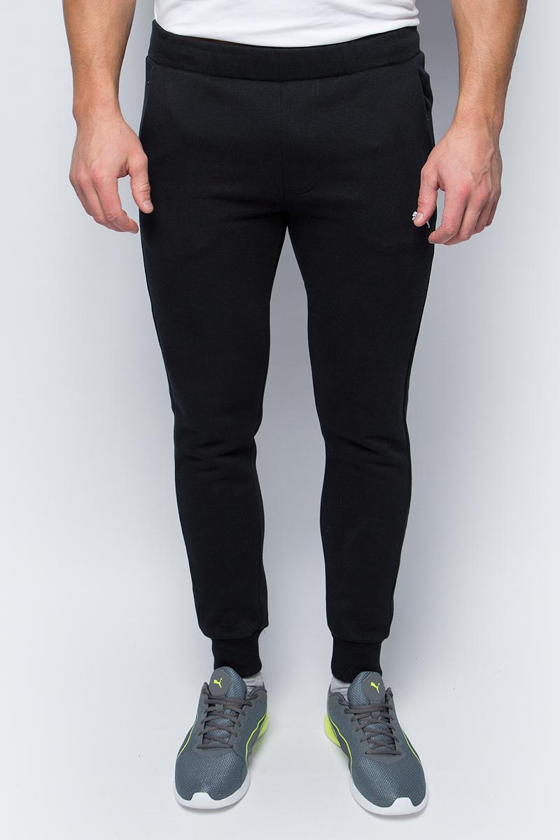 Брюки спортивные мужские Puma ESS Sweat Pants Slim, Fl, цвет: черный. 83826601. Размер L (48/50)