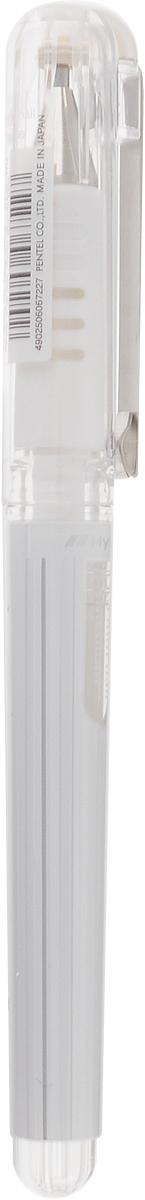Pentel Ручка гелевая цвет чернил белыйK230-WГибридные гелевые чернила белого цвета, устойчивые к воде и свету.Пластиковый корпус с мягкой зоной захвата.Металлические клип и наконечник.Свето- и водоустойчивые гелевые чернила.Чернила ярко пишут на цветной и темной бумаге,ложатся мягко, ровно, без просветов.Ручка используются для декоративных и творческих работ.