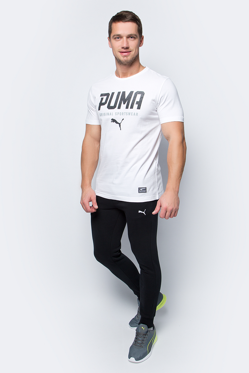 Футболка мужская Puma STYLE Tec Graphic Tee, цвет: белый. 590590_02. Размер XL (50/52) рюкзак asus 16 0 triton black 90xb03p0 bbp000