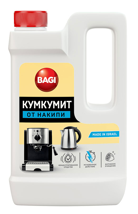 Средство для удаления накипи Bagi Кумкумит, 550 мл средство от накипи для чайников и кофеварок melitta 4 х 12 г