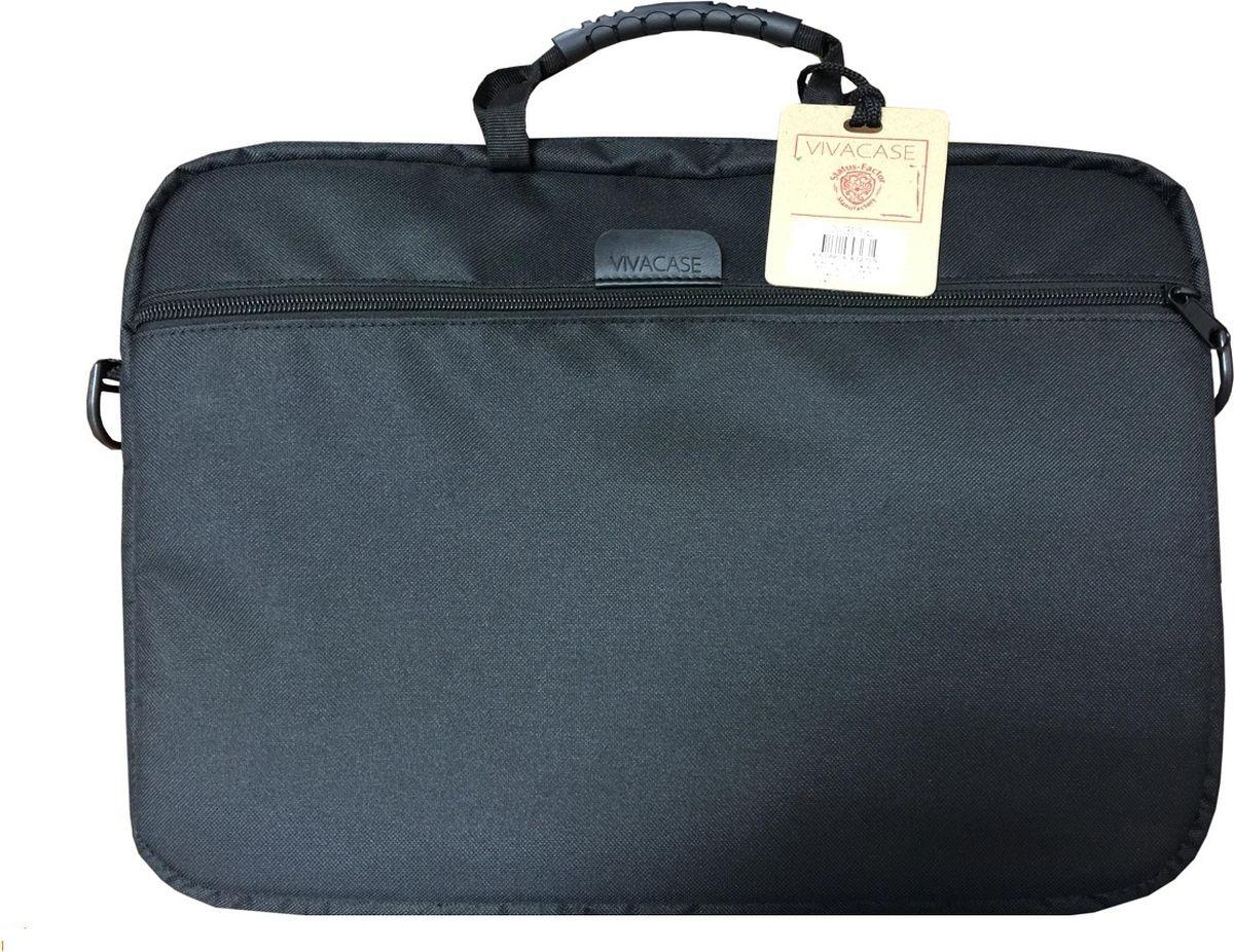 Vivacase Business, Black сумка для ноутбука 15.6VCN-CBS15Стильная, элегантная сумка Vivacase Business предназначена для ноутбуков до 15.6. Переднее отделение с карманом для мобильного телефона, авторучек или аксессуаров для ноутбука. Двойная молния для удобного доступа к устройству. Ручки для транспортировки. Регулируемый съемный плечевой ремень с мягкой накладкой.