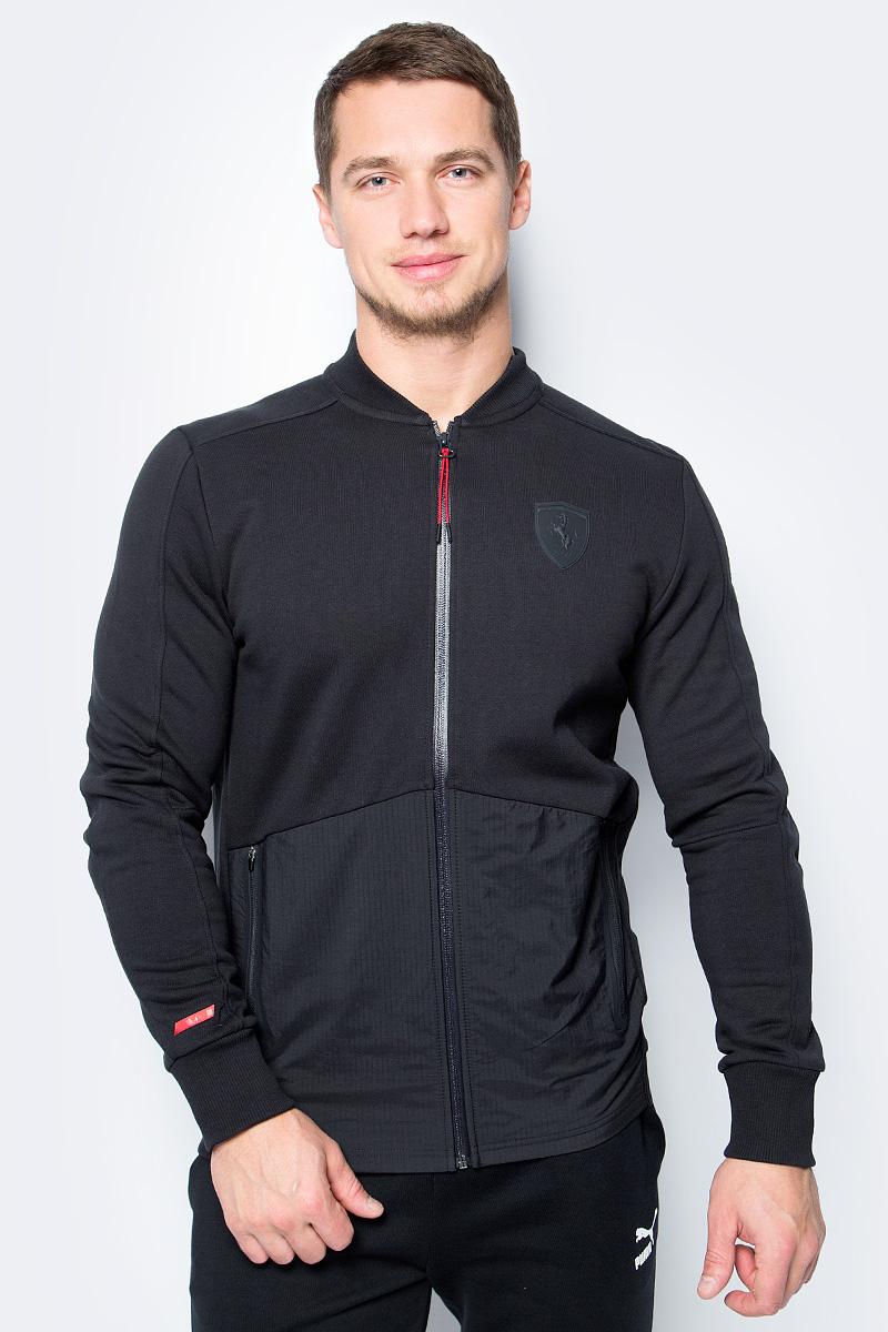 Толстовка мужская Puma Ferrari Sweat Jacket, цвет: черный. 57346001. Размер XXL (52/54)