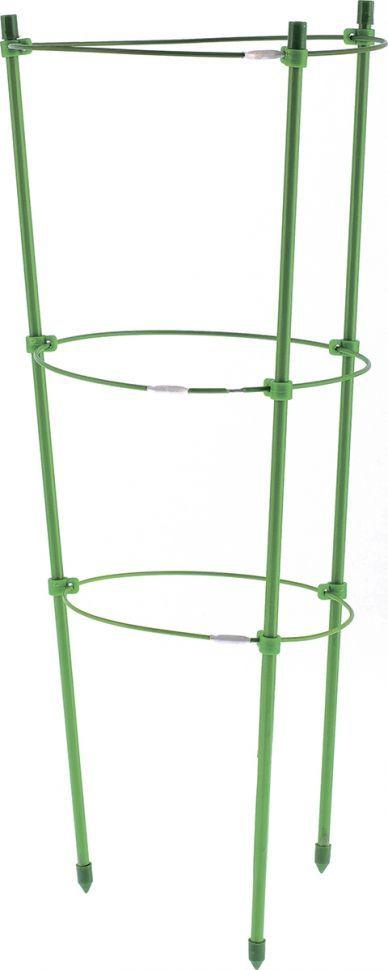 Поддержка для растений Palisad, высота 150 см, 5 колец644045Поддержка для растений Palisad - это прочные металлические кольца, расширяющиеся к верху, которые служат опорой для стеблей. Дуги можно равномерно распределять и подвязывать, чтобы избежать затенения отдельных участков. Металлическая конструкция имеет небольшой вес, а благодаря специальным наконечникам легко входят в грунт.