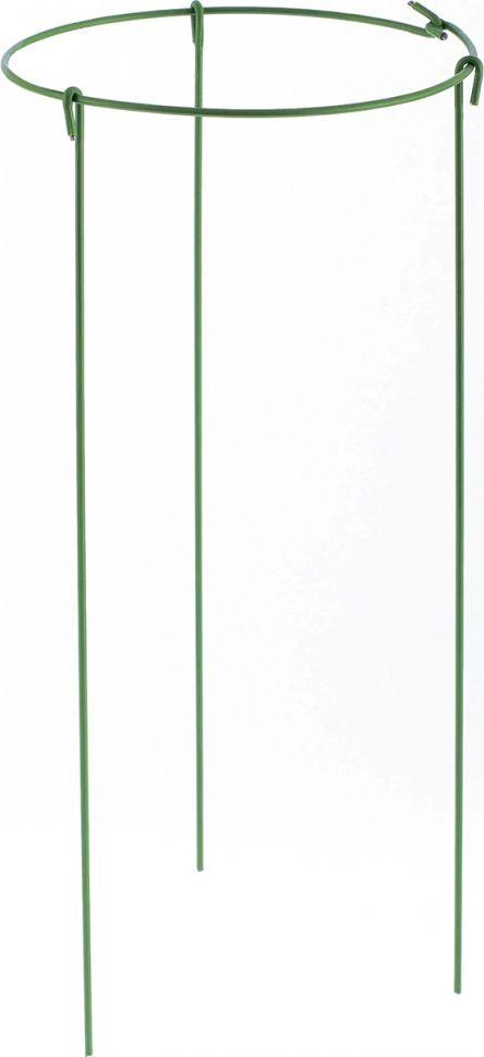 Опора для растений Palisad, диаметр 21 см, высота 45 см, 3 шт644065Опора для растений Palisad производится из металла в пластиковой оплетке, что оберегает ее от воздействия окружающей среды и продлевает срок службы. Опора идеально подходит для поддержки комнатных и садовых растений. Также применяется для поддержки клубничных кустиков.