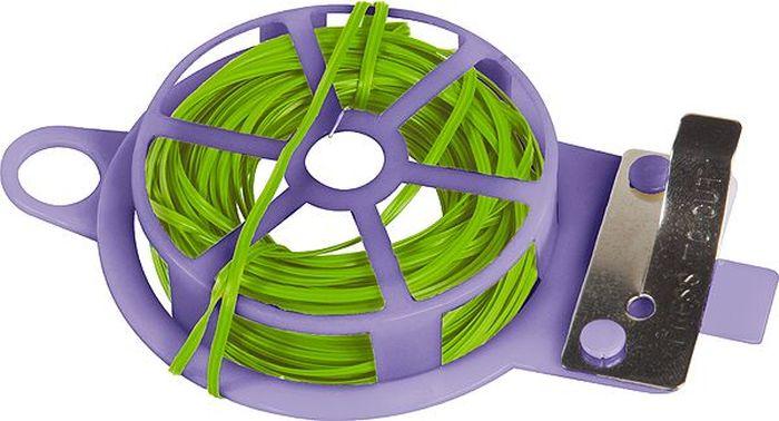 Подвязка для растений Palisad, длина 30 м64489Подвязка для растений Palisad представляет собой бобину из мягкой проволоки в ПВХ-изоляции, заключенную в обойму из прочного АБС-пластика. На обойме имеется встроенный нож для отреза проволоки. Проволока предназначена для подвязки высоких и гибких растений к специальным колышкам или связывания растений в пучок. Мягкость и гибкость позволяет бережно обращаться со стеблями, а также использовать проволоку многократно. Имеющаяся петля позволяет подвешивать изделие на крючок, штырь, ветку для быстрого доступа. Также можно использовать в бытовых целях.