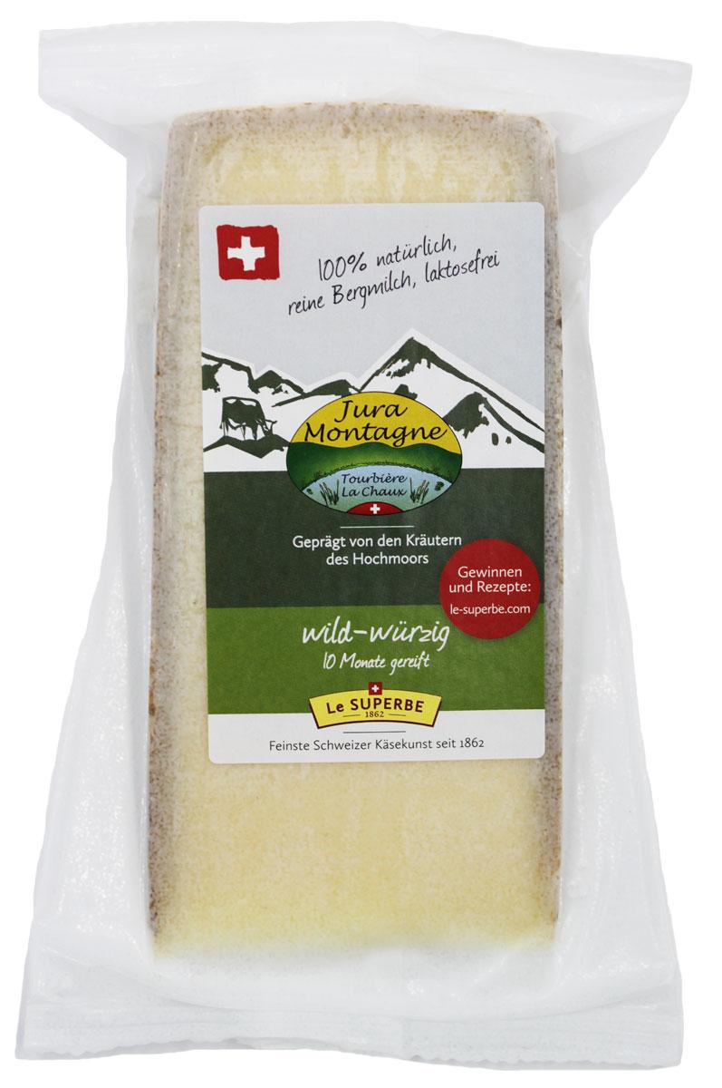Le Superb Сыр Жура Монтань, 200 гМС-00008070Секрет сыра Жура Монтань кроется в насыщенном и ароматном горном молоке. Чем дольше зима и чем больше снега, тем зеленее и устойчивее трава. Коровы питаются исключительно высокогорной зеленью и сеном с горных пастбищ и дают чистейшее и свежее молоко, которое обрабатывается местными сыроварами по старинным рецептам, передающиеся из поколение в поколение. Сыр выдерживается в специальных погребах и в процессе выдержки головки обрабатываются секретным веществом. После 10 месяцев сыр, созданный местной природой готов к употреблению.Пищевая ценность на 100 г:Белки: 27 г.Жиры: 32 г.Энергетическая ценность: 387 кКал.