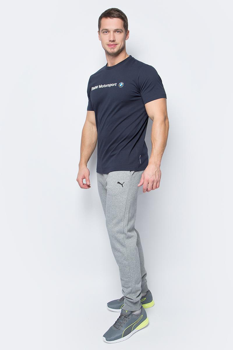 Футболка мужская Puma BMW MSP Logo Tee, цвет: синий. 572772_01. Размер XXL (52/54) футболка мужская puma bmw msp logo tee цвет белый 57277202 размер xl 50 52