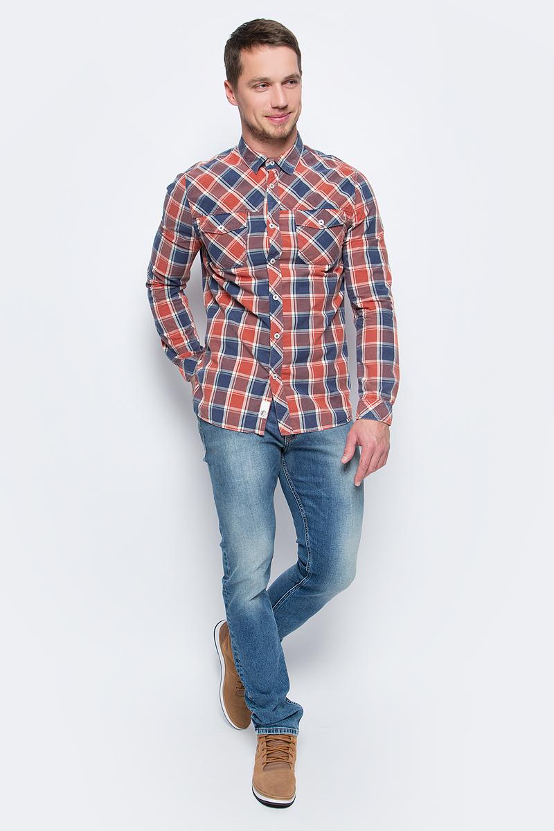 Рубашка мужская ONeill Lm So Call Shirt, цвет: красный, синий. 7P1307-5930. Размер S (46/48)7P1307-5930Мужская рубашка от ONeill выполнена и натурального хлопка. Модель с длинными рукавами, отложным воротником и нагрудными карманами застегивается на пуговицы.