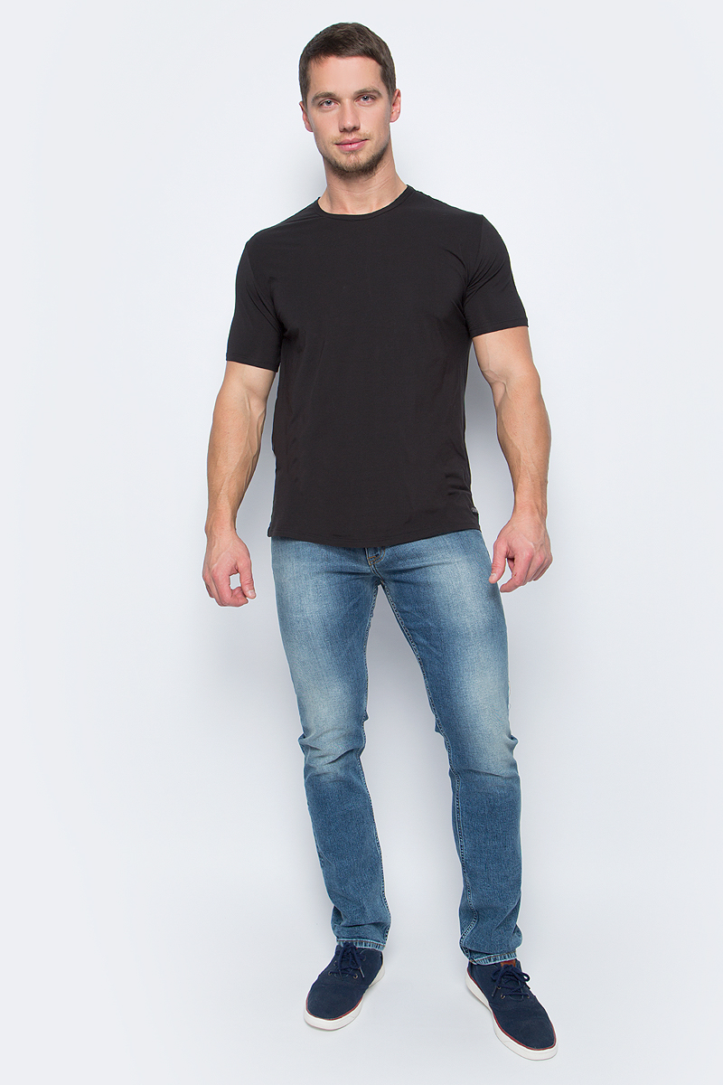Майка мужская Calvin Klein Jeans, цвет: черный. NB1336A_001. Размер L (50/52)NB1336A_001