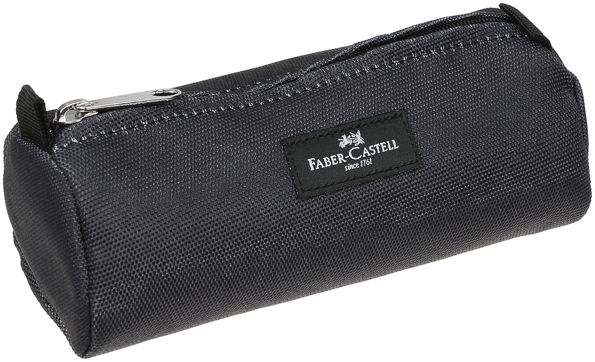 Пенал прямоугольный Faber-Castell, цвет: черный191801Стильный пенал Faber-Castell выполнен из прочного полиэстера и оформлен металлической вставкой с названием бренда. Пенал содержит одно отделение для канцелярских принадлежностей и закрывается на застежку-молнию. Бегунок застежки дополнен текстильным держателем в виде шнурка. Пенал послужит отличным помощником во время занятий и позволит сохранить порядок на рабочем столе.