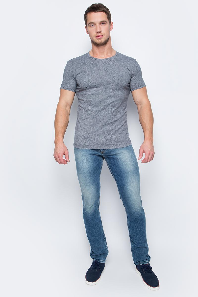 Футболка мужская Calvin Klein Jeans, цвет: серый меланж. J30J306000_1910. Размер XL (48/50) футболка женская calvin klein jeans цвет бежевый j20j204833 размер xl 48 50