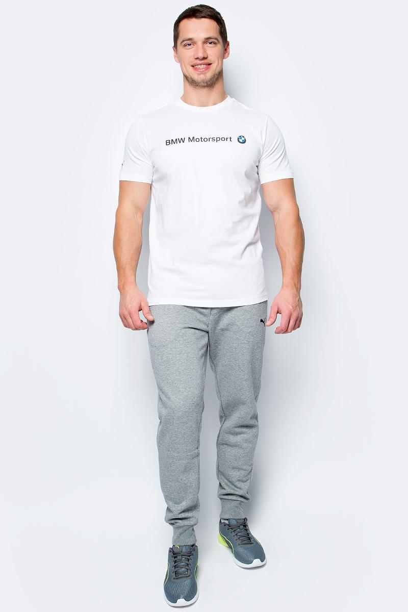 Футболка мужская Puma BMW MSP Logo Tee, цвет: белый. 57277202. Размер XL (50/52) футболка мужская puma bmw msp logo tee цвет белый 57277202 размер xl 50 52