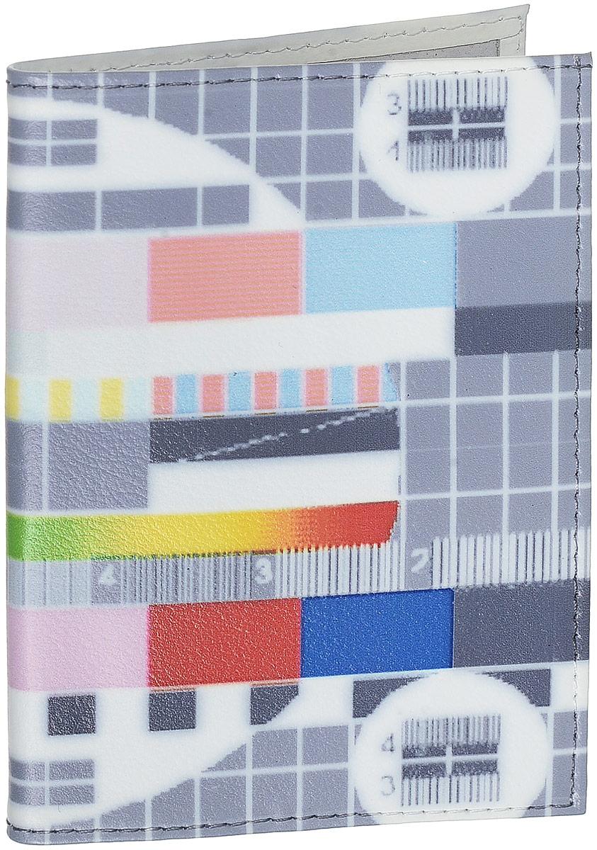 Обложка для паспорта ТВ-сетка, цвет: серый. OK034OK034_серыйОбложка для паспорта ТВ-сетка, цвет: серый. OK034