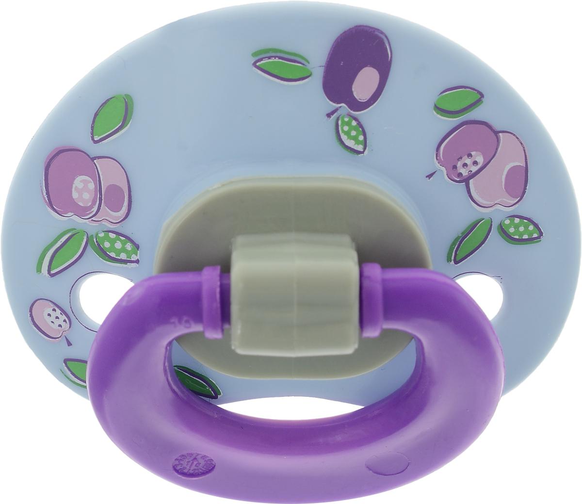 Мир детства Пустышка латексная ортодонтическая от 6 месяцев цвет фиолетовый 13106